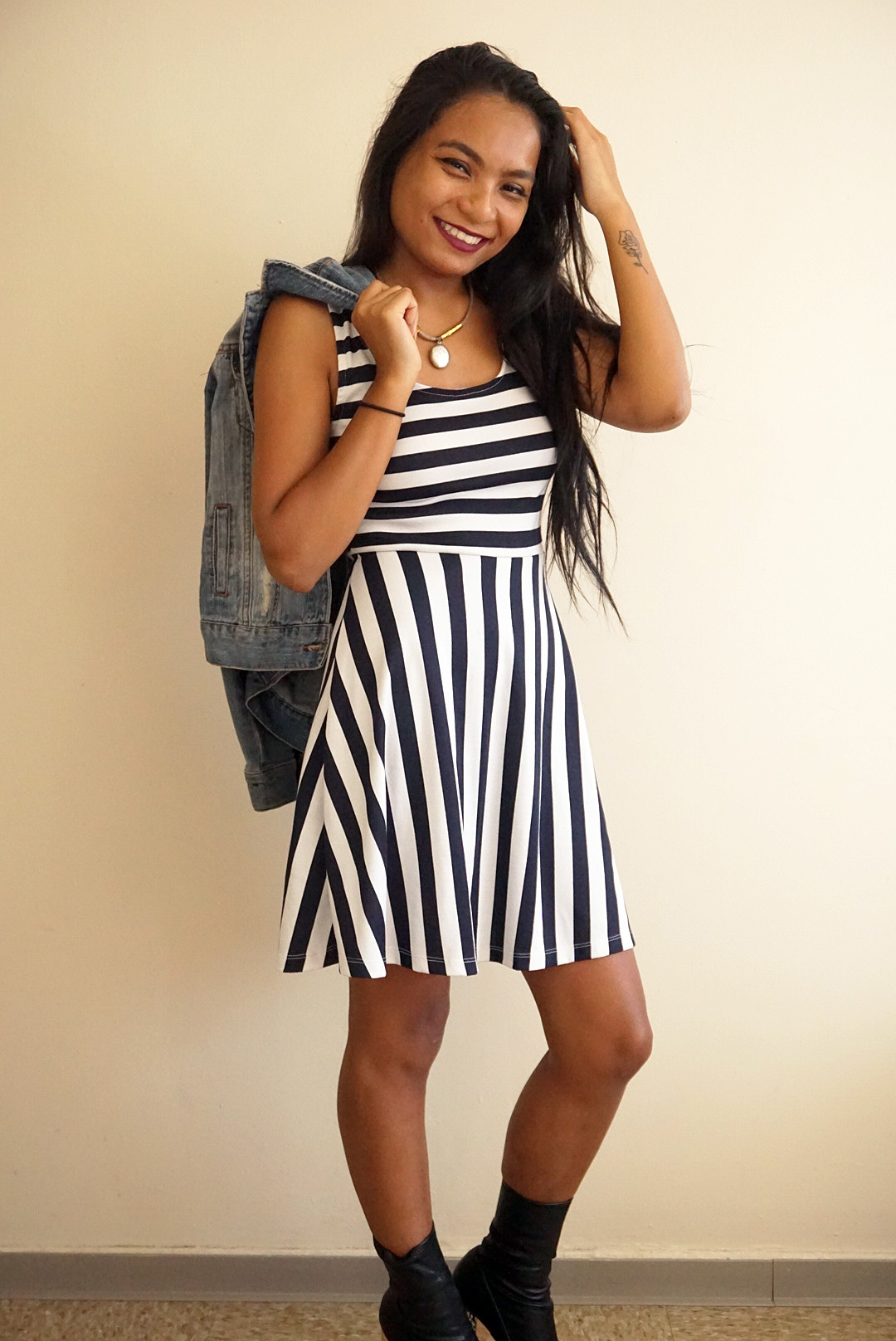Stripes and Chunky Heels