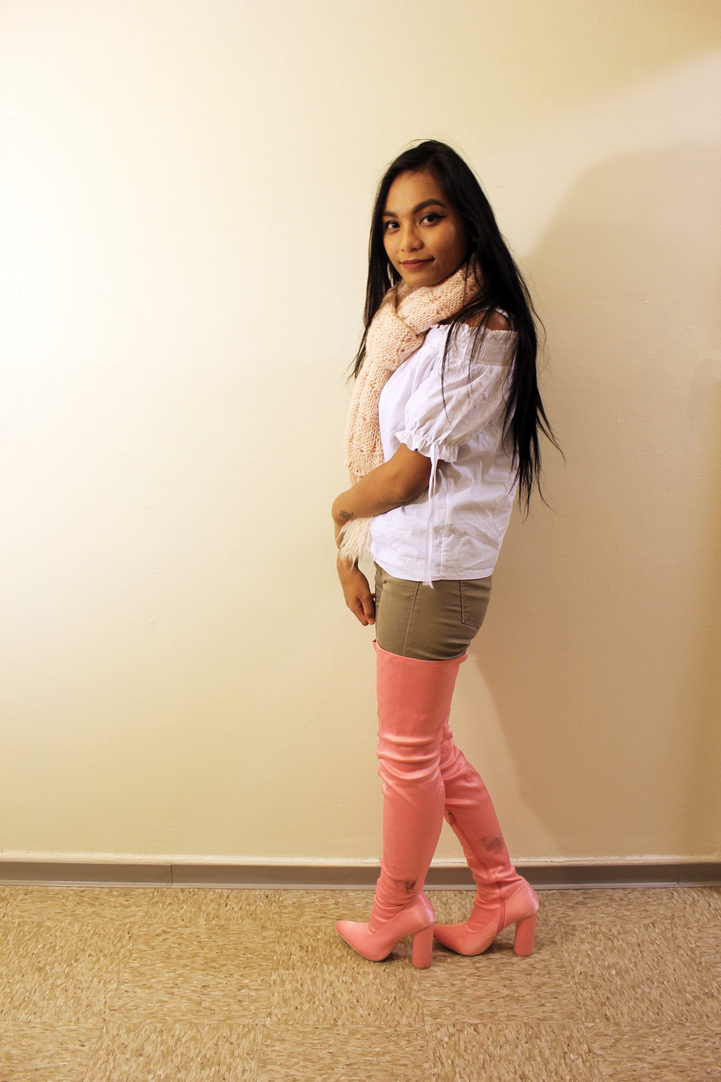 Styling Pink Thigh Highs