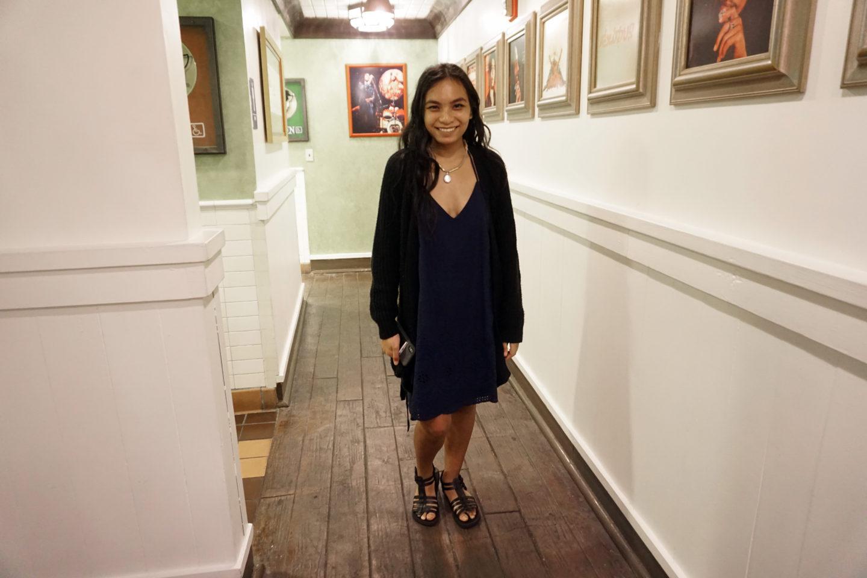Little Blue Slip On Dress