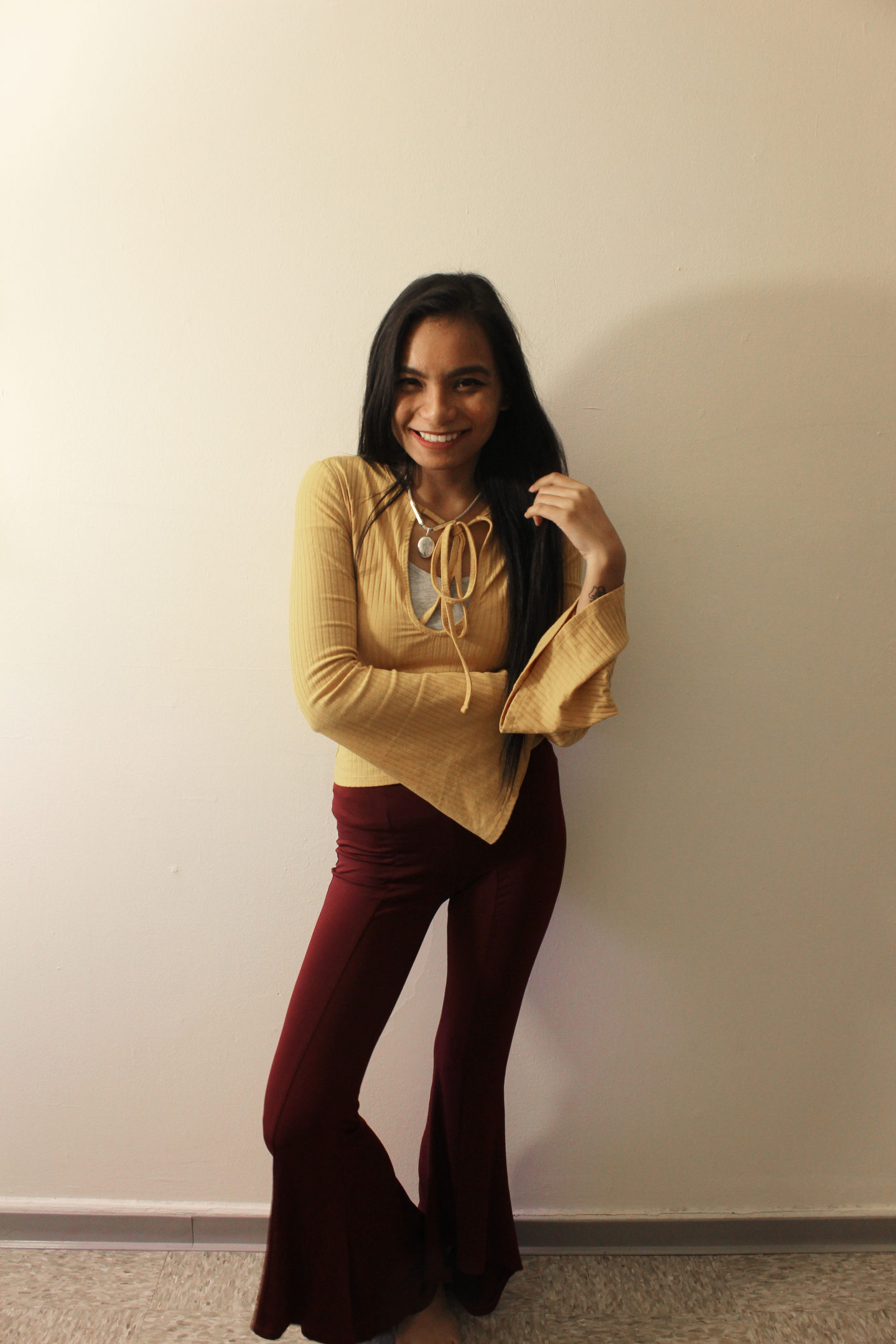 Styling Yellow and Maroon